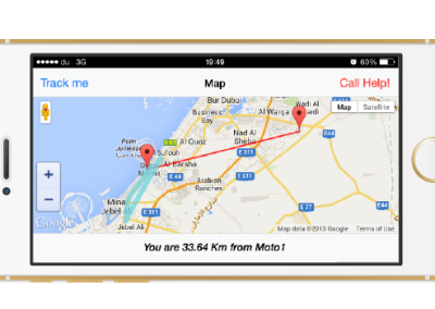 Mobile Application for Off-Road tracking and assistance