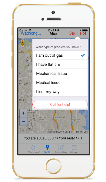call for help screen