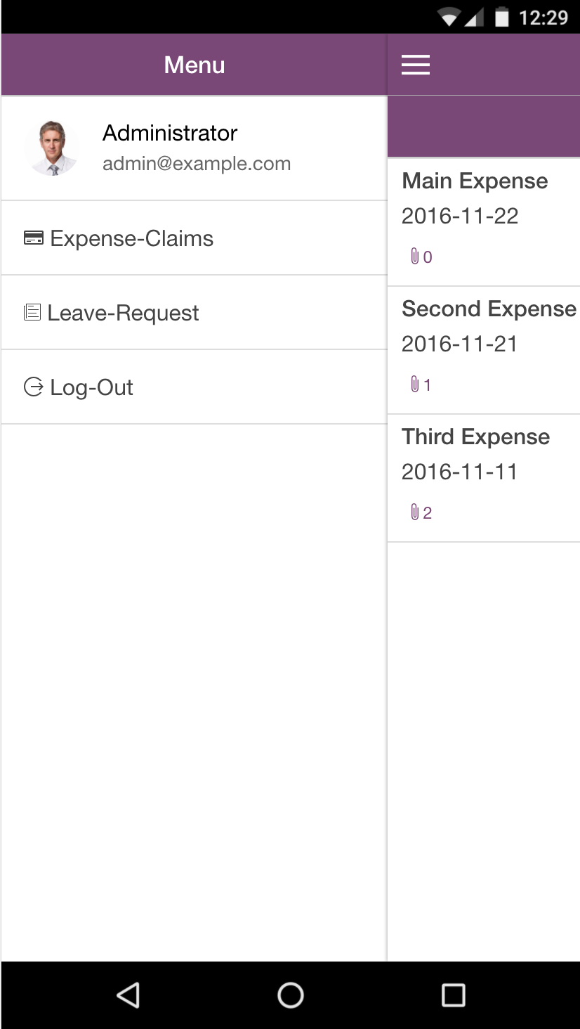 Expense claims
